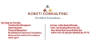 KOKETI CONSULTING/ Construction Management, Asset Valuation,Property Management and Business & Inves